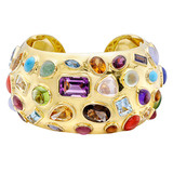 &quot;50&#039;s&quot; Gem-Set Cuff Bracelet