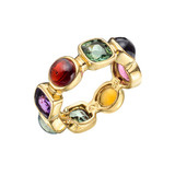 "​""50's"" Multicolored Gemstone Band Ring"