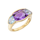 "Amethyst & Blue Topaz ""Avenue"" Ring"