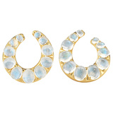 "18k Gold & Moonstone ""Ferris"" Creole Earrings"
