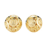 "18k Yellow Gold ""Canton"" Earrings"