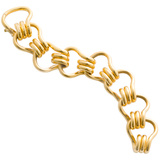 "22k Yellow Gold ""Mousetrap"" Link Bracelet"