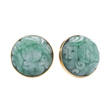 "18k Gold & Jade​ ""Canton"" Earrings"