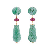 "Jade & Ruby ""Canton"" Drop Earrings"
