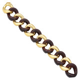 Medium 18k Gold & Rosewood Link Bracelet