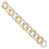 Medium 18k Gold & Rock Crystal Link Bracelet