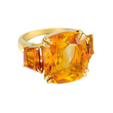 Citrine Three-Stone Ring