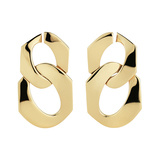 18k Yellow Gold Curb Link Drop Earrings
