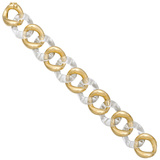 ​Medium 18k Gold & Rock Crystal Link Bracelet