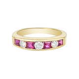 Seven Stone Ruby & Diamond Eternity Band