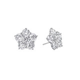 Small Diamond Flower Cluster Earstuds (~1 ct tw)