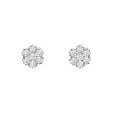Mini Diamond Cluster Stud Earrings (~0.2 ct tw)