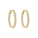​Small Pavé Diamond Hoop Earrings (~0.75 ct tw)