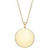Engraveable 18k Yellow Gold Round Locket Pendant