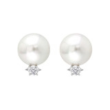 South Sea Pearl &amp; Diamond Earrings