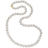 ​South Sea Pearl Long Necklace with Pavé Diamond Clasp