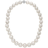 ​South Sea Pearl Necklace with Pavé Diamond Clasp