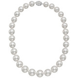 ​South Sea Pearl Necklace with Diamond-Set Clasp