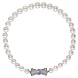 ​South Sea Pearl Necklace with Gem-Set Bow Clasp
