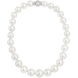 South Sea Pearl Short Necklace with Diamond Clasp