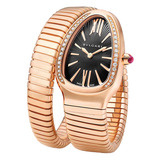 Serpenti Quartz Pink Gold &amp; Diamonds (SPP35BGDG.1T)