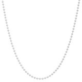 "Sterling Silver Ball Chain Necklace (24"")"