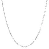 "Sterling Silver Chain Necklace (16"")"
