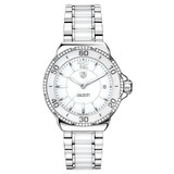 Ladies&#039; Formula 1 Quartz White Ceramic &amp; Diamonds (WAH1213.BA0861)