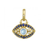 Moonstone, Sapphire, &amp; Diamond &quot;Evil Eye&quot; Pendant