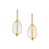 ​Rock Crystal & Diamond Amulet Drop Earrings
