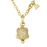 18k Yellow Gold & Diamond Turtle Locket