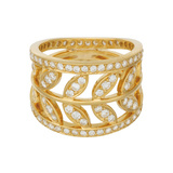 "​18k Yellow Gold & Diamond ""Vine"" Ring"