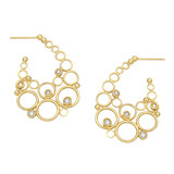 "18k Gold & Diamond ""Luna"" Hoop Earrings"