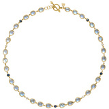 Moonstone, Sapphire & Diamond Chain Necklace