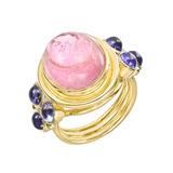 &quot;St. Paolo&quot; Classic Pink Tourmaline &amp; Tanzanite Ring