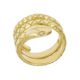 18k Gold Serpent Wrap Ring 