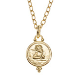 Small 18k Yellow Gold Angel Pendant