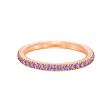 Pink Titanium & Amethyst Band Ring
