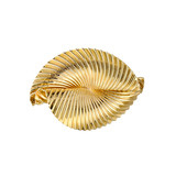 14k Gold Oval-shaped Fan Brooch
