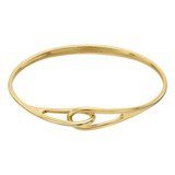 18k Gold Entwined Double Loop Bangle