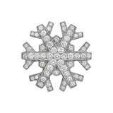 ​Platinum & Diamond Snowflake Brooch