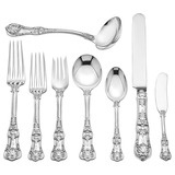 Silver &quot;English King&quot; Flatware Set