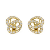 ​18k Yellow Gold & Diamond Twist Earrings
