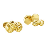 18k Yellow Gold 'S' Scroll Cufflinks