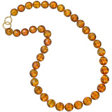 Paloma Picasso Amber Bead Necklace