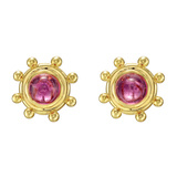 Paloma Picasso 18k Gold & Pink Tourmaline Earrings