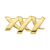 ​​Paloma Picasso 18k Yellow Gold 'XXX' Pin