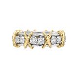 "​​Schlumberger Diamond ""16 Stone"" Band Ring"
