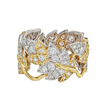"​Schlumberger Diamond ""Four Leaves"" Band Ring"