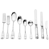 "Silver ""Palm"" Flatware Set"